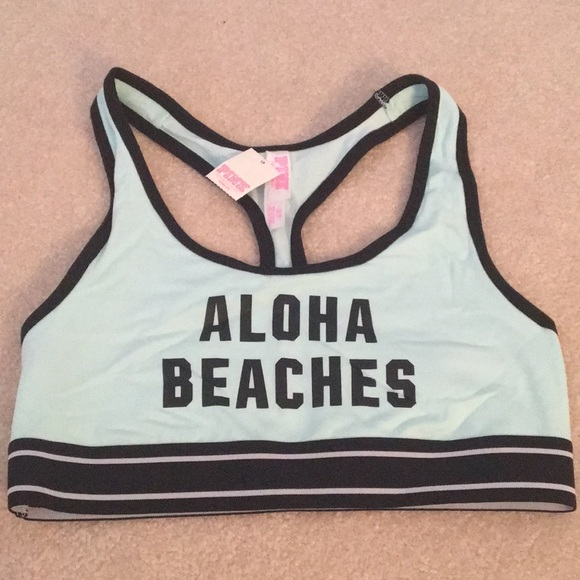 """434d0c291e58e Victoria Secret PINK """"Aloha Beaches"""" sports bra"""